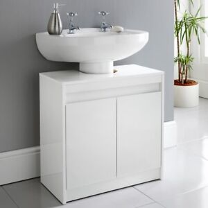 Norsk High Gloss Under Sink Cabinet Stylish and Useful Storage to Your Bathroom.