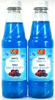 2 Bottles Jelly Belly 16 Oz Berry Blue Syrup For Ice Treats Best By 4/2022