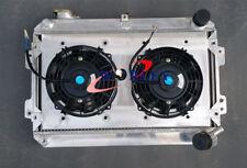 3 ROW For Mazda RX7 Series S1 S2 S3 1979-1985 MT Aluminum Radiator + Shroud +Fan