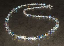Sparkling Round Clear AB Crystal Necklace