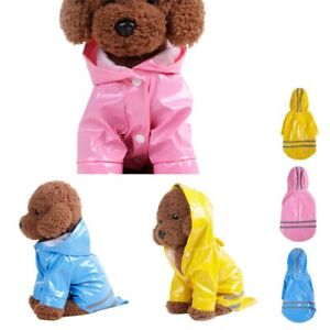Pet Rain Coat Waterproof Dogs Cats Apparel Clothes For Small Medium Pets