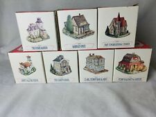 Lot of 7 Liberty Falls Americana Collection Miniature Buildings Vintage Exclnt
