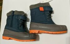 Cat & Jack Toddlers Boys size 11 Valmai Thermolite Winter Boots  Navy