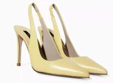 Zara Basic Leather Sling Backs Yellow Career 36 NWD