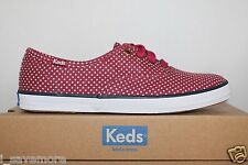 keds WF53431Women's CHAMPION MICRO DOT Canvas Shoes Sneakers Size 9.5M NIB