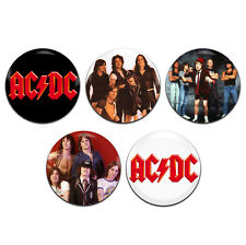 5x AC/DC Band Heavy Rock ACDC 25mm / 1 Inch D Pin Button Badges