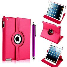 PINK PU LEATHER 360 DEG SMART STAND COVER CASE FOR IPAD 2/3/4