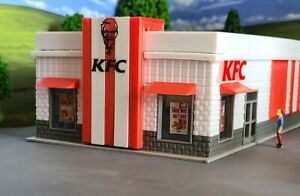 HO Scale (1:87) Building/Fast Food Restaurant/Scratch Built/Layout Ready