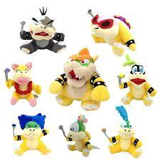 8X Super Mario Plush King Bowser & Koopalings Larry Ludwig Morton Koopa Toy ETC