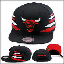 Mitchell & Ness Chicago Bulls Snapback Hat All BLACK/Diamond Side