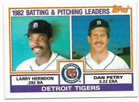 1983 Topps Detroit Tigers Team Set With KIrk Gibson, Alan Trammell, Jack Morris