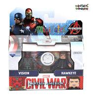 Marvel Minimates TRU Toys R Us Captain America Civil War Movie Vision & Hawkeye