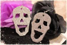 Orecchini resina a forma di teschio strass trasparen monachella *earrings skull