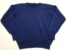 Vintage 90s Polo Ralph Lauren Knitted Sweater Blue Size S