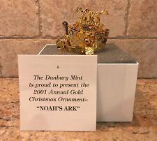 "2001 Annual Gold Danbury Mint ""Noah'S Ark"" 23kt Christmas Tree Ornament"