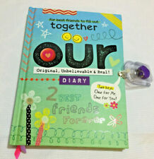 Best Friends BFF OUR Locking Journal Diary Book Hardcover 2 Keys NEW Ages 8 & Up