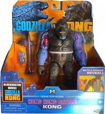 """Playmates Monsterverse Godzilla vs Kong 6"""" Hong Kong Battle Kong With Axe - New"""
