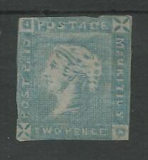 MAURITIUS  SG28 THE SCARCE 1859 LAPIROT INT IMP 2d BLUE MOUNTED MINT CAT £9000