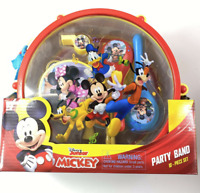 Disney Mickey Mouse Party Band 10 Piece Party Set Kids New Toy Drum Flute