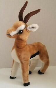 """Vintage R. DAKIN 1978 Brown Gazelle Antelope 15"""" Stuffed Plush Toy Animal RARE"""