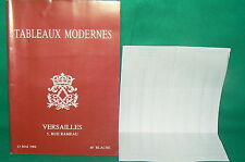 catalogue vente enchères VERSAILLES Tableaux modernes + liste prix de vente (22)