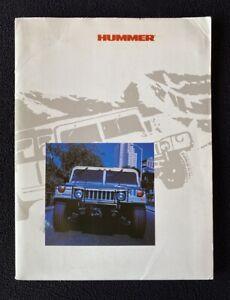 1998 Hummer Pickup Soft Top Hard Top Wagon Press Kit Factory Slides Brochure
