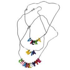 Collares y colgantes de bisutería cadena de color principal plata