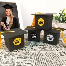 36pcs Grad Cap Candy Box Paper Candy Gift Box Kinder Graduation Candy Treat Bag