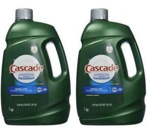 2 Pk Cascade Advanced Power Liquid Machine Dishwasher Detergent with Dawn 125oz