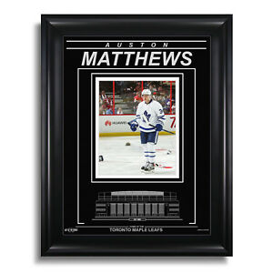 Auston Matthews Toronto Maple Leafs Engraved Framed 8x10 Photo - 4 Goal Game