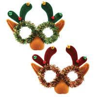 Reindeer Tinsel Glasses Nose Christmas Fancy Dress Festive Specs Random Design