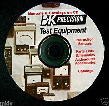 Over 150 B&K BK Precision Test Equipment Manuals & Catalogs - CD (pdf files)