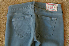TRUE RELIGION CASEY SEXY Skinny Jeans 26X30 NWOT$194 RARE Bluish Grey Shade!