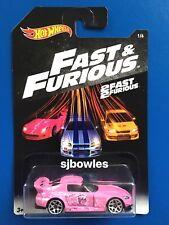 2018 Hot Wheels FAST & FURIOUS (SERIES 5) JDM PINK 2001 HONDA S2000 mint on card
