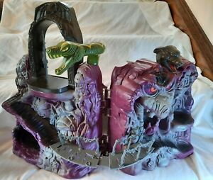VINTAGE HE-MAN MOTU SNAKE MOUNTAIN PLAYSET SHELL W/WORKING MICROPHONE