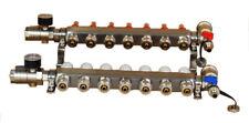 7 Branch Geothermal Water Divider Pex Radiant Floor Heating Manifold Set