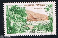 1 FRANCOBOLLO FRANCIA TURISTICA GUADELOUPE 1957 usato