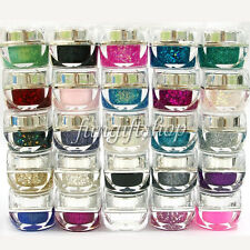 1 x Nail Art 8ml 0.25oz UV Builder Color Glitter Gel Acrylic Polish Pink Blue
