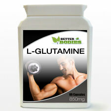 L- Glutamine High Strength 850mg 60 Capsule Bottle Weight Muscle Gain Recovery