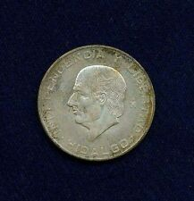 "MEXICO   1955  10 PESOS ""HIDALGO"" SILVER COIN, CHOICE UNCIRCULATED!"