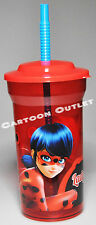 MIRACULOUS LADYBUG CUP AND STRAW TUMBLER CUP SIPPER GIRLS GIFT 15 OZ SPORTS CUP