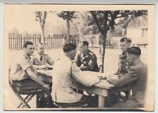 (F16986) Orig. Foto Pu?awy, deutsche Soldaten, Führungsstab 3i am Tisch 1944