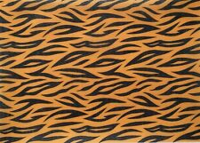 EDIBLE PATTERNED A4 RICE WAFER PAPER TIGER ANIMAL PRINT CAKE TOPPER WRAP FRILL