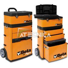 Trolley carrello Beta Tools C41H O cassettiera portautensili a 2 moduli arancio
