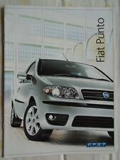 Fiat Punto range brochure Oct 2004