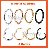 Titanium Ear Lip Nose Piercing Septum Seamless Segment Clicker Ring Hoop Sleeper