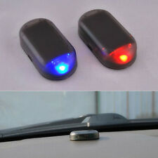1pc Fake Solar Car Alarm Led Light Security System Warning Theft Flash Blinking