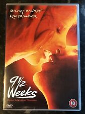 9 1/2 WEEKS DVD 1985 (MICKEY ROURKE-KIM BASINGER) VERY GOOD CONDITION