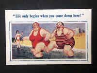 Vintage Postcard: Artist Signed: Donald McGill #A515: Life Begins No 2105