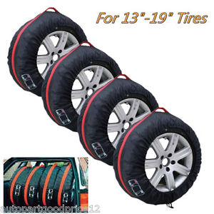 """Car Seasonal Spare Tire Protection Cover Carry Tote Storage Bag for 13""""-19"""" Tyre"""